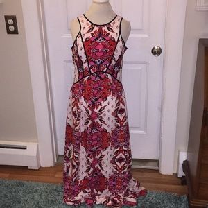 GB Large Floral Lined Maxi Dress NWOT